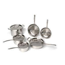 Premium Copper Clad Stainless Steel 10-Piece Cookware Set