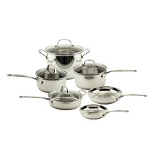 EarthChef 10-Piece Premium Copper Clad Cookware Set with Glass Lids