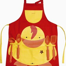 Sheriff Duck 5 Piece Apron with Kitchen Utensils Set