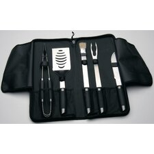Geminis 6-Piece BBQ Set Travel Wrap