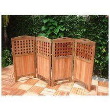 Outdoor Wood Privacy Screen