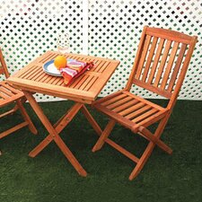 <strong>Vifah</strong> Glaser 2 Piece Folding Dining Set