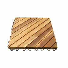 "Acacia Hardwood 11.22"" x 11.22"" Interlocking Deck Tiles (Set of 10)"