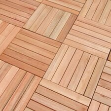 "<strong>Vifah</strong> Eucalyptus 12"" x 12"" Interlocking Deck Tiles"
