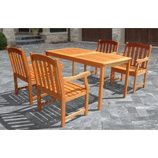 <strong>Vifah</strong> Outdoor Wood English Garden Dining Set 27