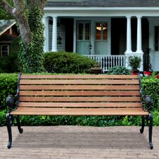 Outdoor Furniture Wood and Cast Iron Park Bench