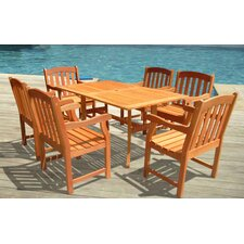 <strong>Vifah</strong> Atlantic 7 Piece Dining Set
