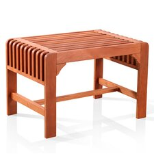 <strong>Vifah</strong> Backless Wood Picnic Bench