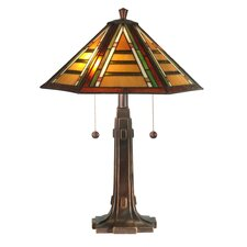 Grueby Tiffany 2 Light Table Lamp