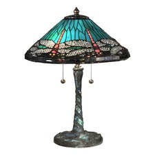 """Cone Dragonfly 22"""" Table Lamp with Empire Shade"""