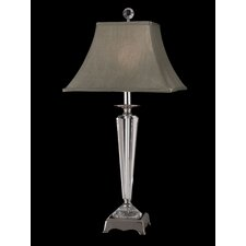 """Penfield Crystal 30.25"""" Table Lamp with Bell Shade"""