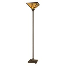 Noir Mission 1 Light Torchiere Floor Lamp