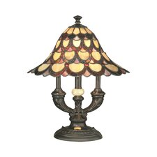 """Peacock 19"""" Table Lamp with Bell Shade"""