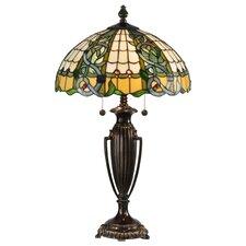 """Asure Tiffany 28""""  Table Lamp with Bowl Shade"""