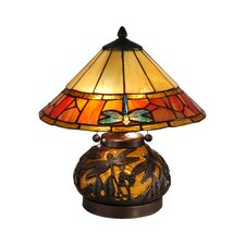 """Genoa 16.75"""" Table Lamp with Night Light with Empire Shade"""