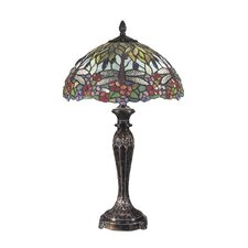 """Floral 29"""" H Table Lamp with Bowl Shade"""