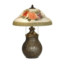"""Floral 22"""" H Table Lamp with Bowl Shade"""