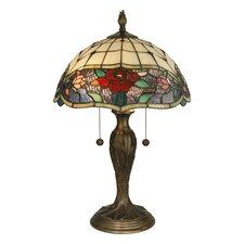 "Malta Tiffany 21.75"" Table Lamp with Bowl Shade"