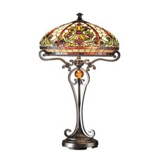 """Antiques Roadshow Boehme Series Tiffany 28"""" H Table Lamp with Bowl Shade"""