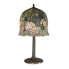 """Flowering Lotus 29"""" H Table Lamp with Bowl Shade"""