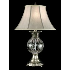 """Adriana Crystal 29"""" H Table Lamp with Empire Shade"""