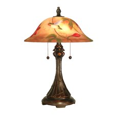 <strong>Dale Tiffany</strong> Tropical Sun 2 Light Table Lamp