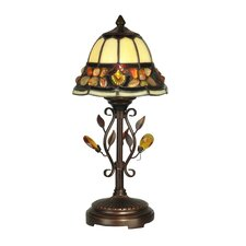 "Pebblestone 15.25"" H Table Lamp with Bell Shade"
