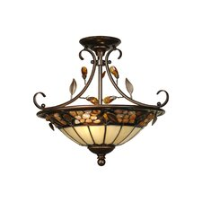 Pebble Stone 2 Light Semi Flush Mount