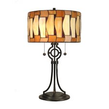 "Addison Tiffany 24"" H Table Lamp with Drum Shade"