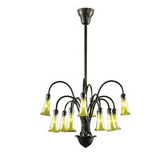 Gold Lily 12 Light Chandelier