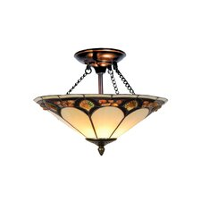 Pebblestone 2 Light Semi Flush Mount