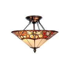 Dragonfly Agate 2 Light Semi Flush Mount