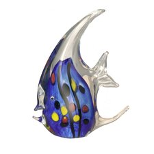 Blue Angel Fish Teapot Sculpture