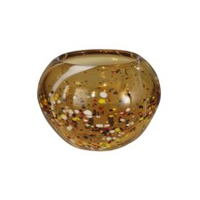 Amber Speckle Round Bowl