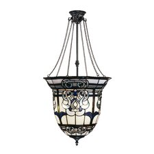 Baroque Inverted 3 Light Foyer Inverted Pendant