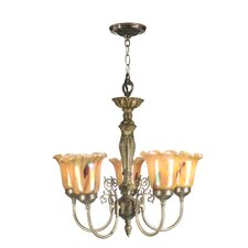 5 Light Columbus Tulip Chandelier