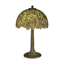 <strong>Dale Tiffany</strong> Wisteria Tiffany 2 Light Table Lamp