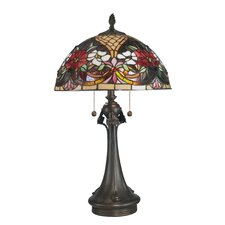 <strong>Dale Tiffany</strong> Rose Garden Tiffany 2 Light Table Lamp