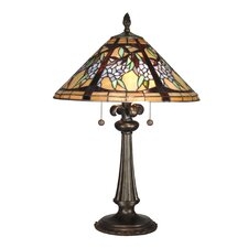 <strong>Dale Tiffany</strong> Floral Branch Tiffany 2 Light Table Lamp