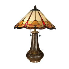 Tiffany Jewels 2 Light Table Lamp