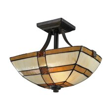 Brisdol 2 Light Semi-Flush Mount