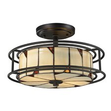 Woodbury 3 Light Semi-Flush Mount