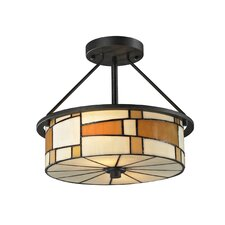 <strong>Dale Tiffany</strong> Portola 2 Light Semi-Flush Mount