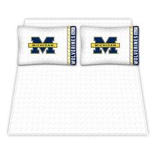 NCAA Michigan University Wolverines Microfiber Sheet Set
