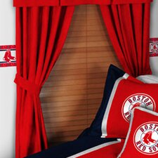 MLB Boston Red Sox Rod Pocket Drape Panel