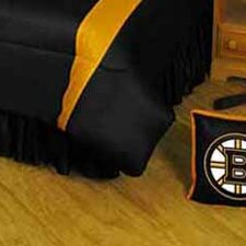NHL Boston Bruins Polyester Jersey Bed Skirt