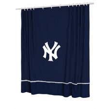 MLB New York Yankees Polyester Sidelines Shower Curtain