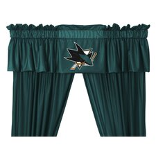 NHL Rod Pocket Tailored Curtain Valance