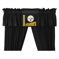 "NFL Pittsburgh Steelers 88"" Curtain Valance"