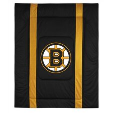 NHL Boston Bruins Sidelines Comforter